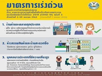 Urgent measures in Samut Songkhram Province