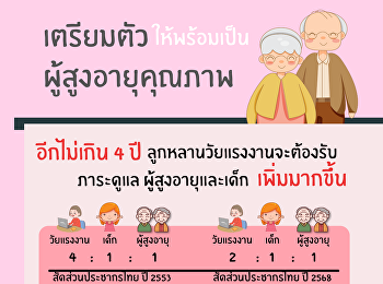 เตรียมตัวให้พร้อมเป็นผู้สูงอายุคุณภาพ