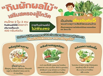กิน ผัก-ผลไม้ เสริมสตรองสู้ COVID-19
